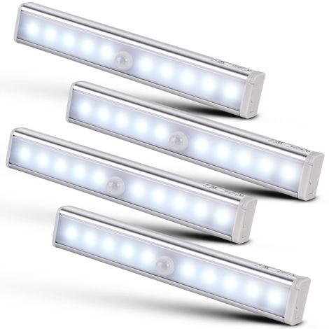 Under Cabinet Lighting Closet LED Light 20 LEDs Wireless Magnetic Motion Sensor Night Lights Wardrobe Counter (4)