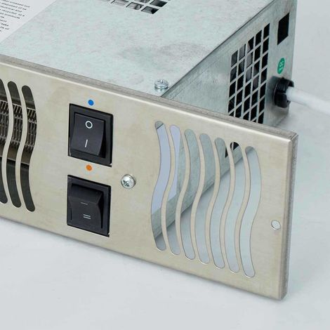 Under Cupboard Kitchen Plinth Heater with Timer and Room Thermostat (Stainless Steel, Diamond 1.9E)