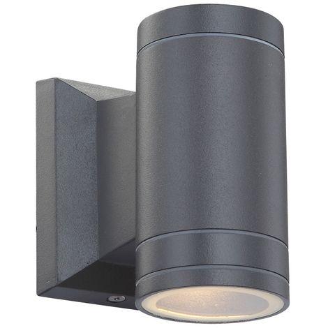 Une applique à LED en aluminium gris pour la terrasse
