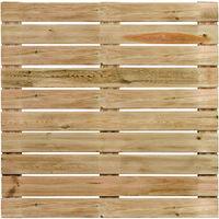 Une dalle de terrasse en bois motif droit 100