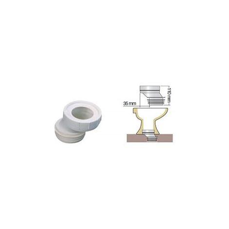 Une pipe WC, adaptation excentrée de 35 mm ø100 mm.