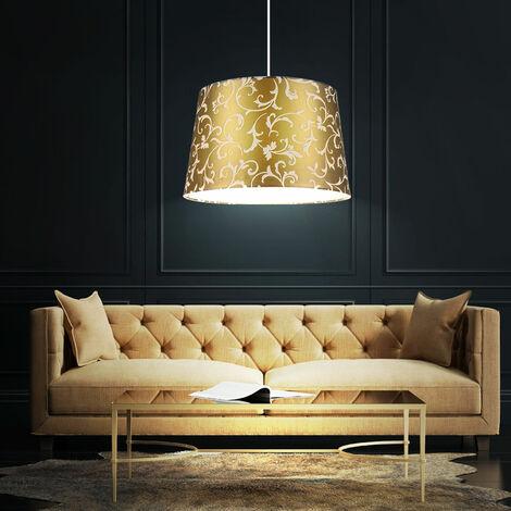 Une suspension de couleur gris avec des motifs de fleurs