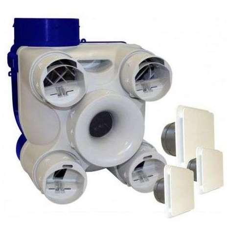 UNELVENT - VMC simple flux autoréglable DECO 2 K avec bouches déco - 603141