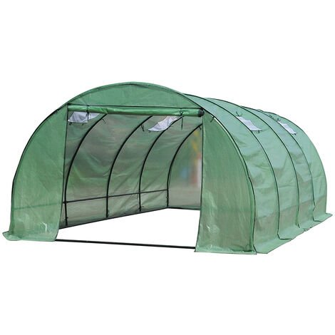 Unframed Greenhouse PE Cover Walk in Polytunnel Gardening Warm Grow Shed 6X3X2M