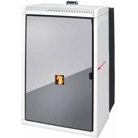 UNGARO CTU 14 KO wasserführender Pelletkamin Pellet Kamin Ofen Farbe weiß 14 kW
