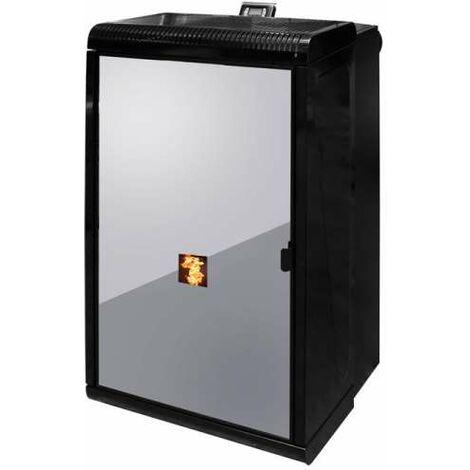 UNGARO CTU 18 KO wasserführender Pelletkamin Pellet Kamin Ofen Farbe schwarz 18 kW