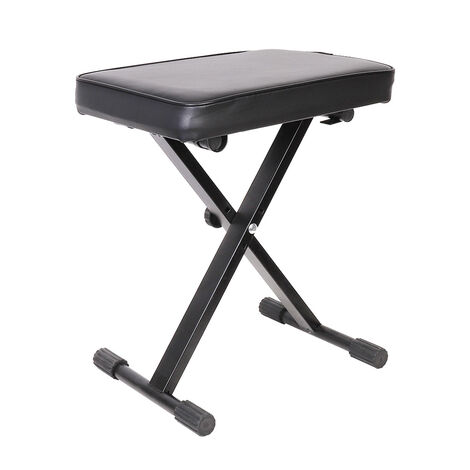 UNHO Keyboard Stool with Padded Seat - Portable Adjustable X Frame Piano Bench