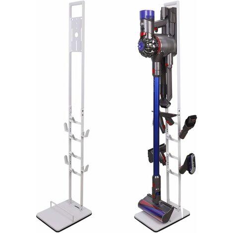 UNHO Support pour Aspirateur Sans Fil: Porte-Accessoires Blanc pour Dyson V6, V7, V8, V10, DC58, DC59, DC62, DC74-22 x 29 x 131cm