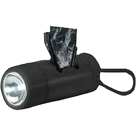 Uni Com Global Limited Battery Operated Torch With Dog Waste Bag Dispenser (One Size) (Black)