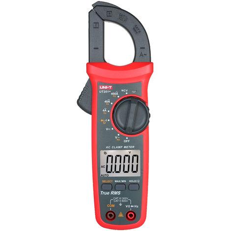 Uni-T Ut201 + 4000 Comtes Pince Multimetre Numerique Multimetre Trms Pince Amperemetre Voltmetre Ncv Universel De Test Testeur Pince De Courant Ac Testeur
