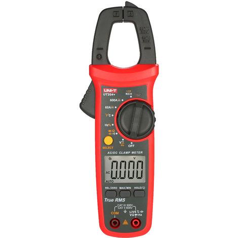 Uni-T Ut204 + 6000 Comtes Pince Multimetre Numerique Multimetre Trms Pince Amperemetre Voltmetre Ncv Universel De Test Testeur Ac / Dc Pince De Courant Testeur -40 ~ 1000 ¡æ Mesure De La Temperature En Direct Test