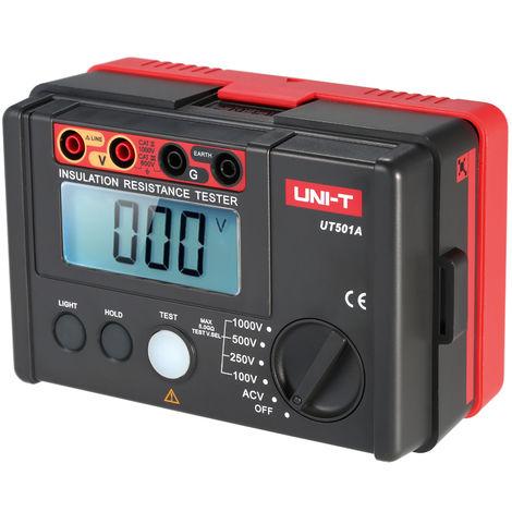 Uni-T Ut501A 1000V Testeur De Masse Pour La Resistance D'Isolement