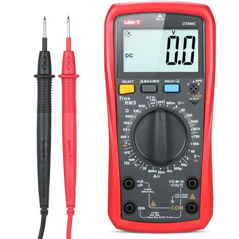 Uni-T Ut890C Multimetre Numerique Trms Metre Universel Ac Dc Voltmetre Amperemetre