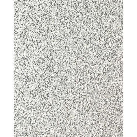 Uni Tapete EDEM 204-40 Dekorative Vinyl-Schaum-Tapete weiß rauhfaser putz optik   7,95 qm - 15 Meter