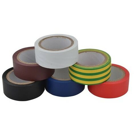 Unibond 1415390 Electrical Tape 19mm x 3.5m Pack of 6 Multi Coloured