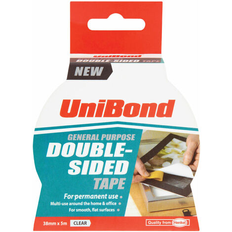 UniBond 1668253 Double-Sided Tape 38mm x 5m