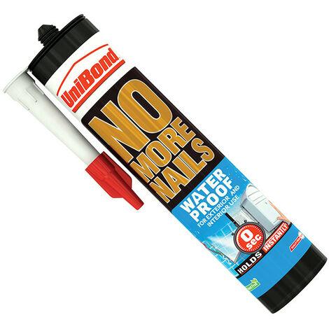 Unibond UNI1427383 No More Nails Waterproof Interior / Exterior - Solvent Free 300ml