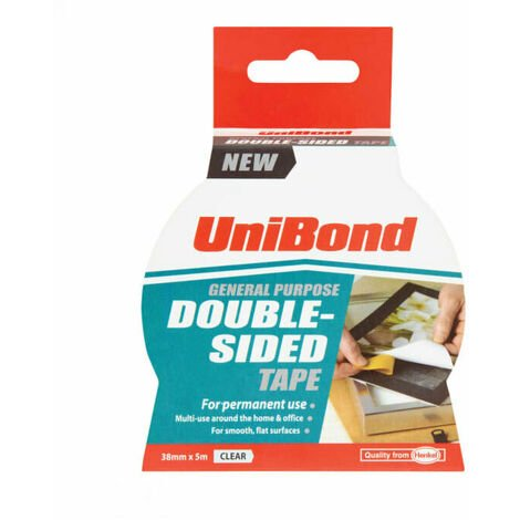 Unibond UNI1668253 Double Sided Tape 38mm x 5m
