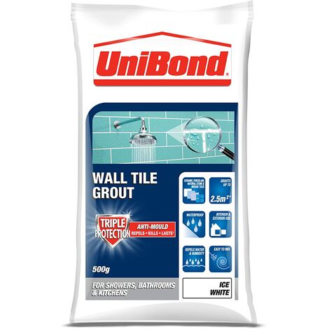 UniBond Wall Tile Grout Triple Protection 500g Bag