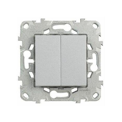 """main image of """"Unica Alu Double poussoir avec carte flow pack, Schneider Electric réf. SHN0512778"""""""