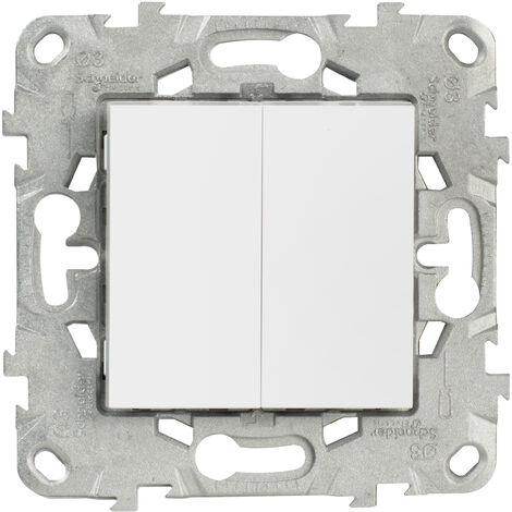 Unica Blanc Double Va et Vient 10A Connex Rapide 2 Modules