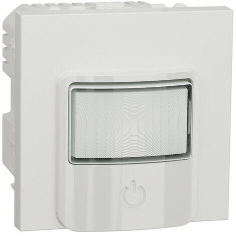 Unica - détecteur de mouvements + poussoir - 230V - 10A - Blanc - méca seul (NU352518)