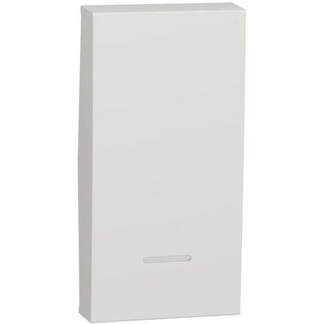 Unica - enjoliveur interrupteur ou bouton-poussoir lumineux - 1 mod - Blanc anti (NU910020N)