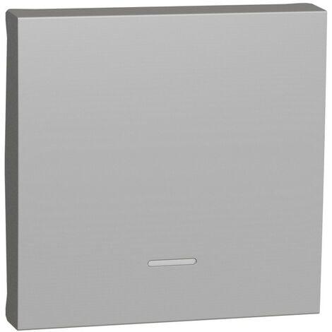 Unica - enjoliveur interrupteur ou bouton-poussoir lumineux - 2 mod - Alu (NU920030N)