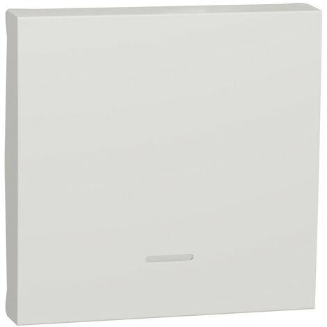 Unica - enjoliveur interrupteur ou bouton-poussoir lumineux - 2 mod - Blanc anti (NU920020N)