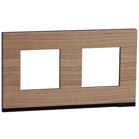 """main image of """"Unica Pure - plaque de finition - Chêne liseré Anthracite - 2 postes (NU600484)"""""""