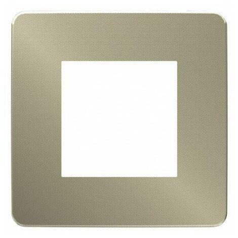 """main image of """"Unica Studio Métal Plaque 1P Bronze liseré Blanc"""""""