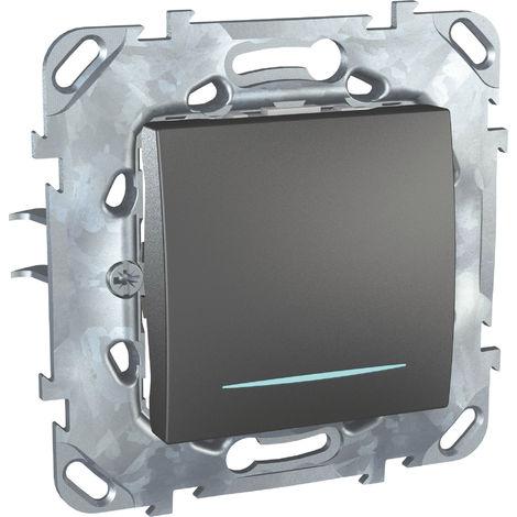 Unicatop Interrupteur va-et-vient à voyant Graphite à composer SCHNEIDER MGU520312NZF