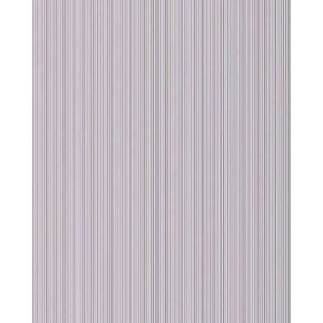Unicolour-wallpaper wall EDEM 598-20 blown vinyl wallpaper textured with stripes and metallic highlights grey light-grey silver 5.33 m2 (57 ft2)