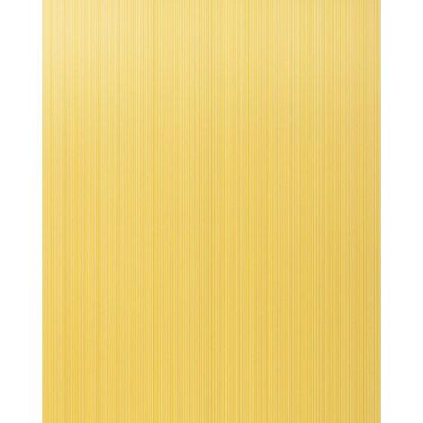 Unicolour-wallpaper wall EDEM 598-21 blown vinyl wallpaper textured with stripes matt yellow saffron-yellow broom-yellow 5.33 m2 (57 ft2)