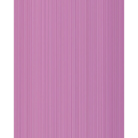 Unicolour-wallpaper wall EDEM 598-22 blown vinyl wallpaper textured with stripes matt lilac red-lilac signal-violet 5.33 m2 (57 ft2)