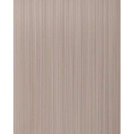 Unicolour-wallpaper wall EDEM 598-23 blown vinyl wallpaper textured with stripes matt brown pale-brown beige-brown 5.33 m2 (57 ft2)