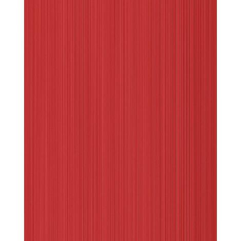 Unicolour-wallpaper wall EDEM 598-24 blown vinyl wallpaper textured with stripes matt red ruby-red carmine-red 5.33 m2 (57 ft2)