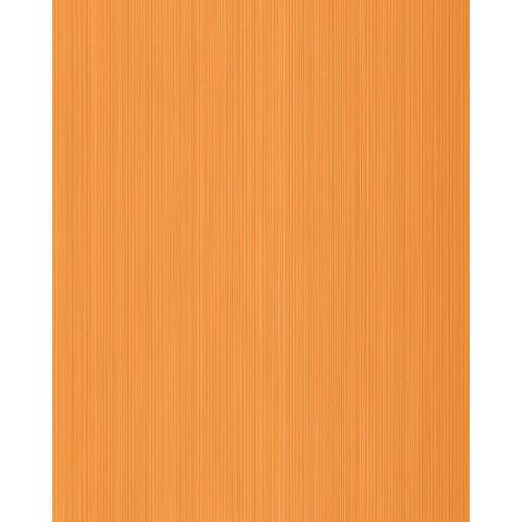 Unicolour-wallpaper wall EDEM 598-26 blown vinyl wallpaper textured with stripes matt orange pastel-orange yellow-orange 5.33 m2 (57 ft2)