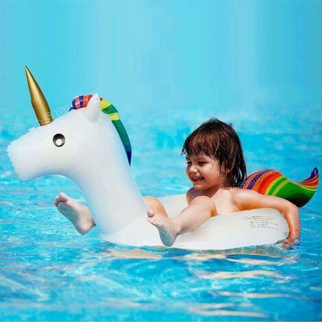 "main image of ""UNICORN INFLATABLE RING KIDS SWIM POOL SUMMER BOAT FLOATING SWIMMING RAFT NEW"""