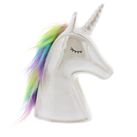 Unicorn Magic - Ceramic Unicorn Head Money Box