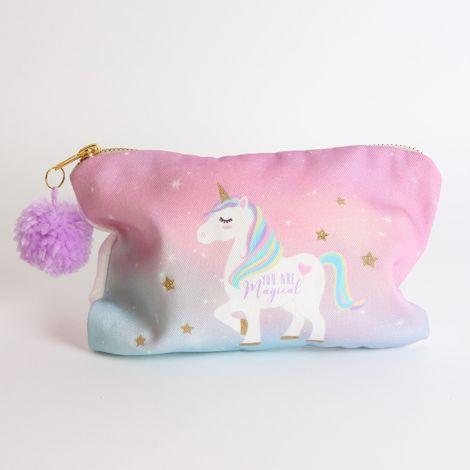 Unicorn Magic Collection Cosmetic Bag w/ Pom Pom
