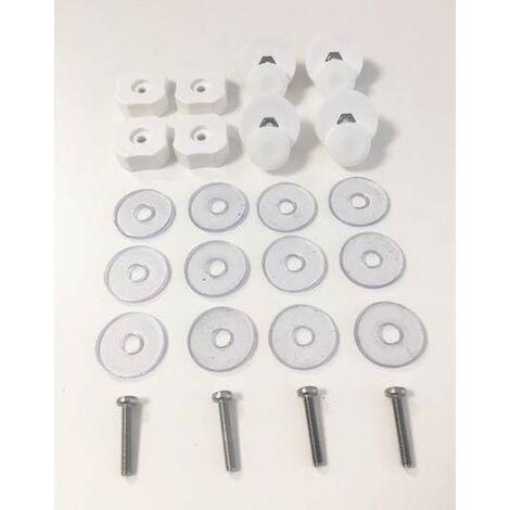 Unidad de desplazamiento para mamparas de ducha Samo RIC999 | Blanco