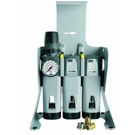 Unidad de filtración aire comprimido para suelo+juego conexión rápido