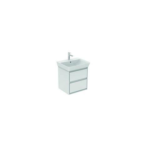 Unidad de lavabo de aire Ideal Standard CONNECT, 480mm, 2 extraíbles, E1607, color: Blanco brillante / gris claro mate - E1607KN