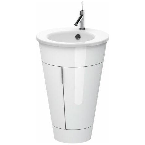 Unidad de lavabo Duravit Starck de pie 9520, redondo 560mm, Color (frente/cuerpo): Seda azul noche lacado mate - S1952009898