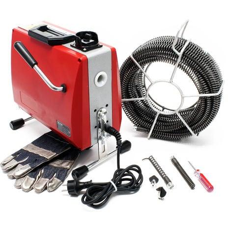 Unidad de limpieza de tuberías 390W 16mm limpiador espiral de drenaje profesional