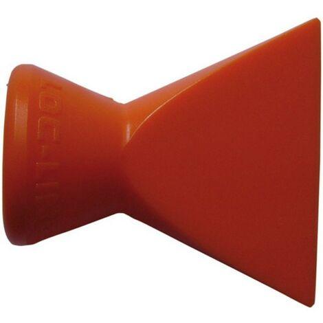 Unidades sueltos y complementarios para el juego de tubos flexibles 1/4''para líquido de descenso, Modelo : boquillas planas, dimensiones 25 mm de amplio