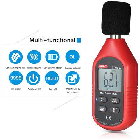 Unide UT353BT Mini compteur de bruit Bluetooth 30-130 decibels expedie sans batterie