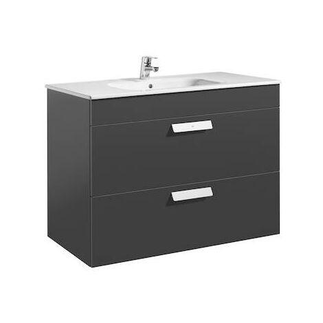 Unik (mueble de baño Roca con dos cajones y lavabo) Debba 1000x460x720mm