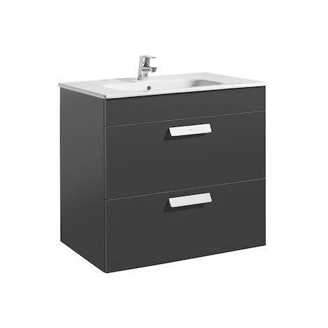 Unik (mueble de baño Roca con dos cajones y lavabo) Debba 800x460x720mm